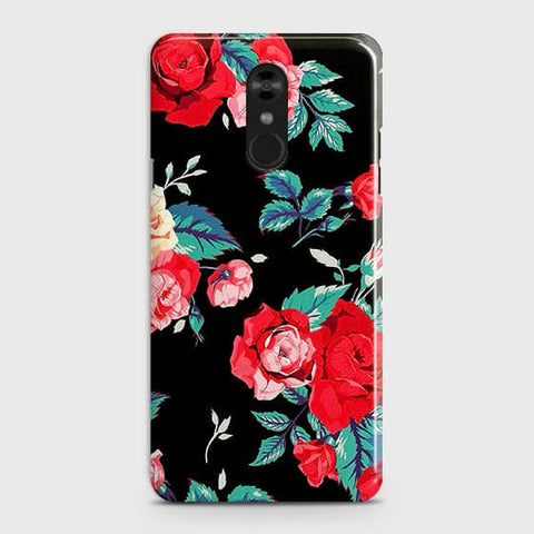 Luxury Vintage Red Flowers Case For LG Stylo 4