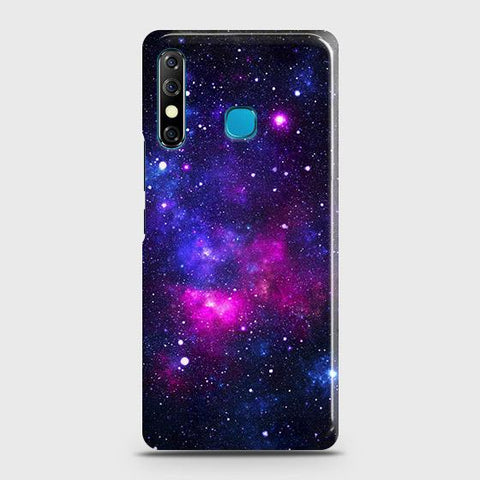 Tecno Spark 4 Cover - Dark Galaxy Stars Modern Printed Hard Case with Life Time Colors Guarantee