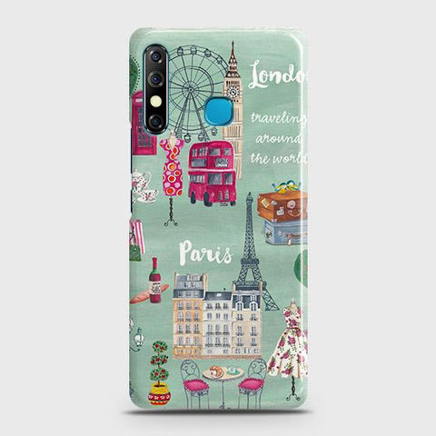 Tecno Spark 4 Cover - London, Paris, New York ModernPrinted Hard Case with Life Time Colors Guarantee