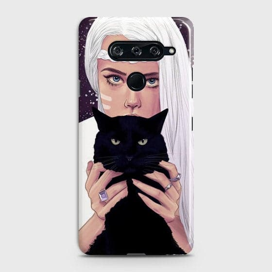 Trendy Wild Black Cat Case For LG V40 ThinQ