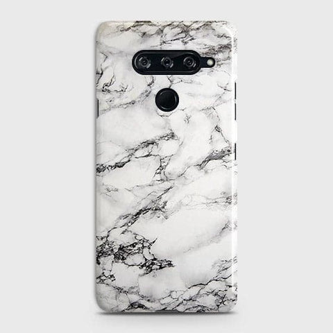 Trendy White Floor Marble Case For LG V40 ThinQ