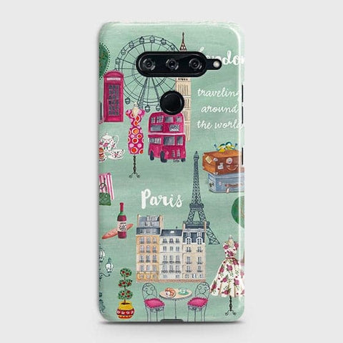 London, Paris, New York Modern Case For LG V40 ThinQ