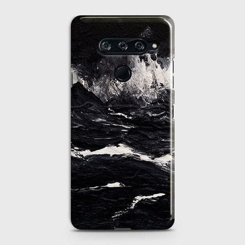 3D Black Ocean Marble Trendy Case For LG V40 ThinQ