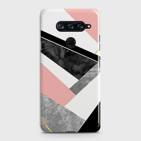 Geometric Luxe Marble Trendy Case For LG V40 ThinQ