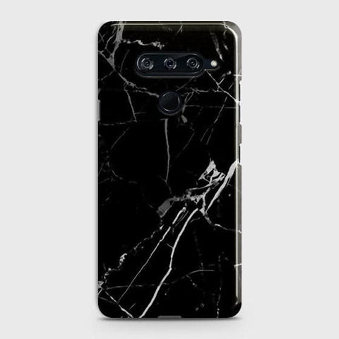 Black Modern Classic Marble Case For LG V40 ThinQ