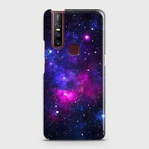 VIVO V15 Cover - Dark Galaxy Stars Modern Printed Hard Case with Life Time Colors Guarantee