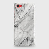 Vivo Y71 Cover - Trendy White Floor Marble Printed Hard Case with Life Time Colors Guarantee