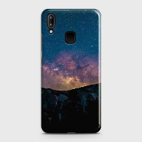Vivo Y95 Cover - Embrace Dark Galaxy  Trendy Printed Hard Case with Life Time Colors Guarantee