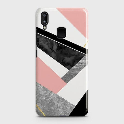 Vivo Y95 Cover - Geometric Luxe Marble Trendy Printed Hard Case with Life Time Colors Guarantee