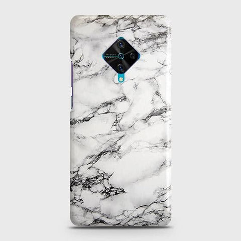 Trendy White Floor Marble Case For Vivo S1 Pro