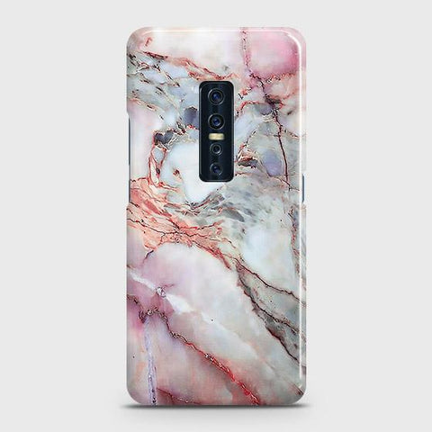 Vivo V17 Pro Cover - Violet Sky Marble Trendy Printed Hard Case with Life Time Colors Guarantee