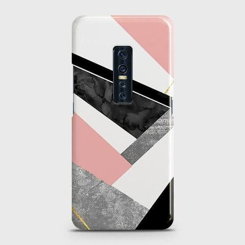 Geometric Luxe Marble Trendy Snap On Case For Vivo V17 Pro
