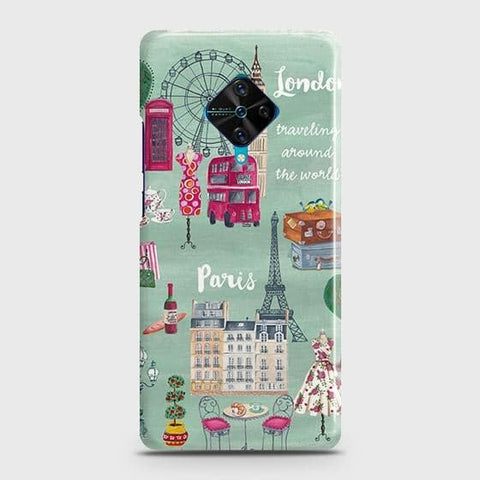 Vivo Y51 2020 Cover - London, Paris, New York ModernPrinted Hard Case with Life Time Colors Guarantee
