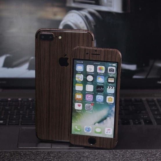 Wood Material Vinyl Phone Skin For Samsung Galaxy S5 - Walnut Wood