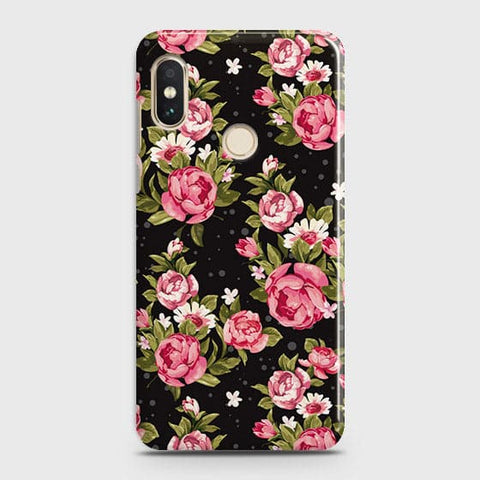 Trendy Pink Rose Vintage Flowers Case For Xiaomi Mi A2 / Mi 6X