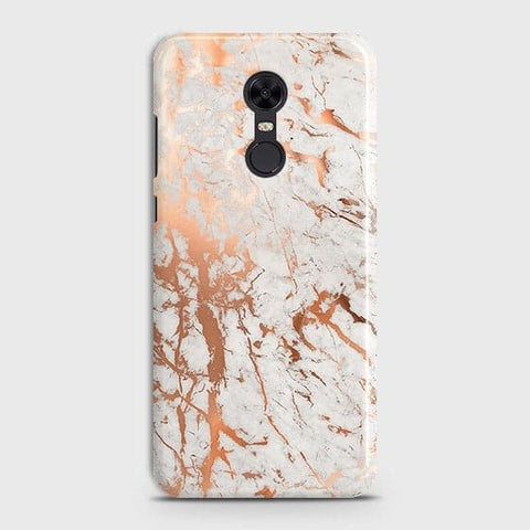 Xiaomi Redmi 5 Cover - In Chic Rose Gold Chrome Style Printed Hard Case with Life Time Colors Guarantee