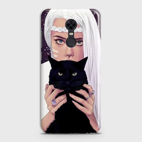 Trendy Wild Black Cat Case For Xiaomi Redmi 5