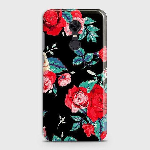 Luxury Vintage Red Flowers Case For Xiaomi Redmi 5
