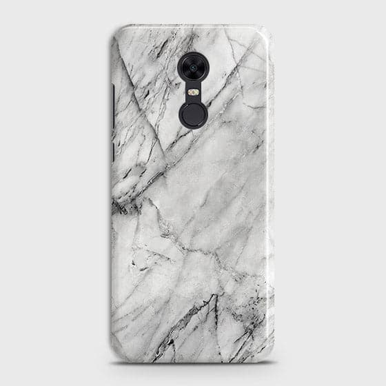 Xiaomi Redmi 5 Cover - Trendy White Floor Marble Printed Hard Case with Life Time Colors Guarantee