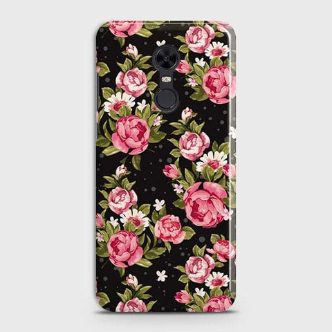Trendy Pink Rose Vintage Flowers Case For Xiaomi Redmi 5