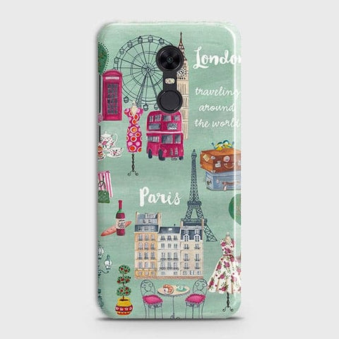 Xiaomi Redmi 5 Cover - London, Paris, New York ModernPrinted Hard Case with Life Time Colors Guarantee