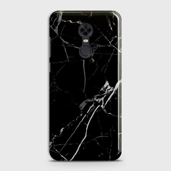 Xiaomi Redmi 5 Cover - Black Modern Classic Marble Printed Hard Case with Life Time Colors Guarantee