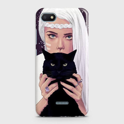 Trendy Wild Black Cat Case For Xiaomi Redmi 6A