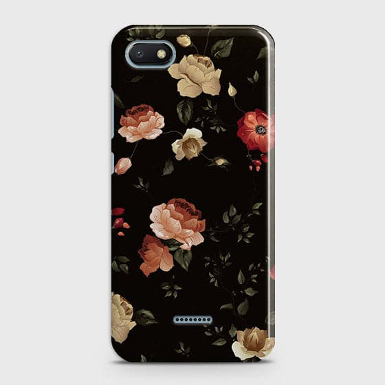 Dark Rose Vintage Flowers 3D Print Case For Xiaomi Redmi 6A