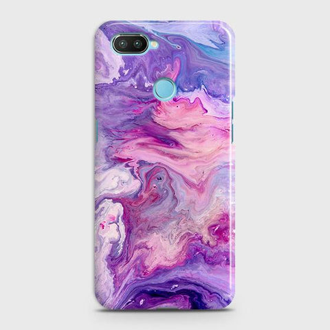 3D Chic Blue Liquid Marble Case For Xiaomi Mi 8 Lite