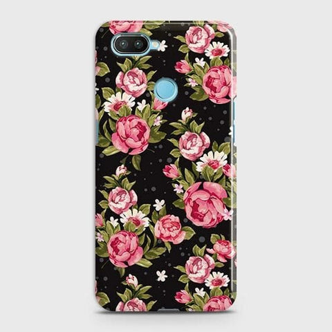Trendy Pink Rose Vintage Flowers Case For Xiaomi Mi 8 Lite