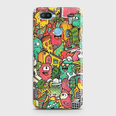 Candy Colors Trendy Sticker Bomb Case For Xiaomi Mi 8 Lite