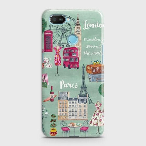 London, Paris, New York Modern Case For Xiaomi Mi 8 Lite