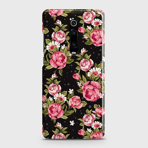 Trendy Pink Rose Vintage Flowers Case For Xiaomi Mi 9T Pro