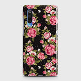 Xiaomi Mi 9 Cover - Trendy Pink Rose Vintage Flowers Printed Hard Case with Life Time Colors Guarantee