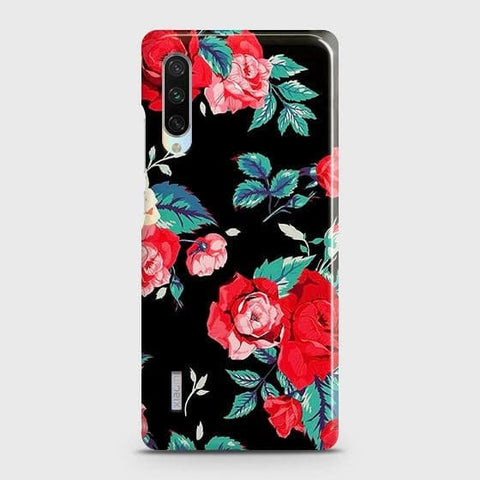 Luxury Vintage Red Flowers Case For Xiaomi Mi A3
