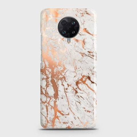 Xiaomi Poco F2 Pro Cover - In Chic Rose Gold Chrome Style Printed Hard Case with Life Time Colors Guarantee