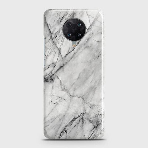 Xiaomi Poco F2 Pro Cover - Trendy White Marble Printed Hard Case with Life Time Colors Guarantee