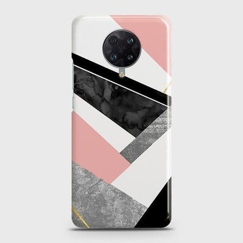Xiaomi Poco F2 Pro Cover - Geometric Luxe Marble Trendy Printed Hard Case with Life Time Colors Guarantee