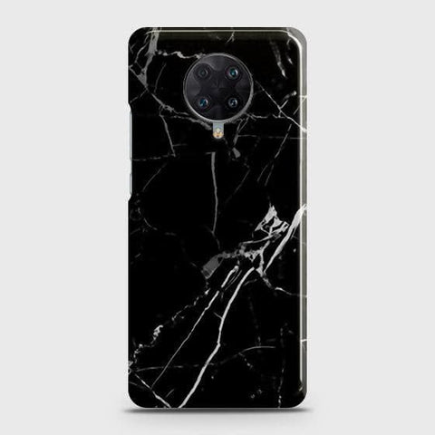 Xiaomi Poco F2 Pro Cover - Black Modern Classic Marble Printed Hard Case with Life Time Colors Guarantee