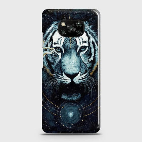 Xiaomi Poco X3 Cover - Vintage Galaxy Tiger Printed Hard Case with Life Time Colors Guarantee
