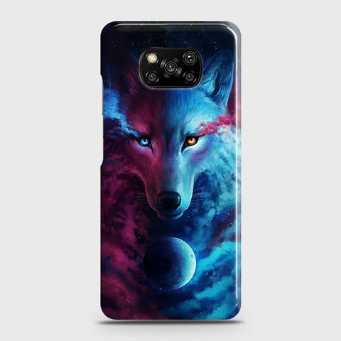 Xiaomi Poco X3 Cover - Infinity Wolf Trendy Printed Hard Case with Life Time Colors Guarantee