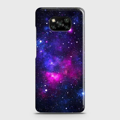 Xiaomi Poco X3 Cover - Dark Galaxy Stars Modern Printed Hard Case with Life Time Colors Guarantee