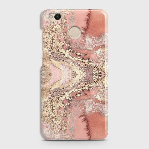 Trendy Chic Rose Gold Marble 3D Case For Xiaomi Redmi 4 / 4X