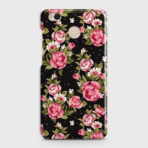 Trendy Pink Rose Vintage Flowers Case For Xiaomi Redmi 4 / 4X
