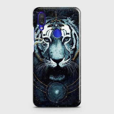 Xiaomi Redmi 7 Cover - Vintage Galaxy Tiger Printed Hard Case with Life Time Colors Guarantee
