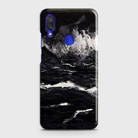 Xiaomi Redmi 7 Cover - Black Ocean Marble Trendy Printed Hard Case with Life Time Colors Guarantee