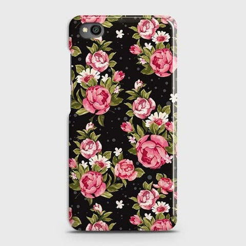 Trendy Pink Rose Vintage Flowers Case For Xiaomi Redmi Go