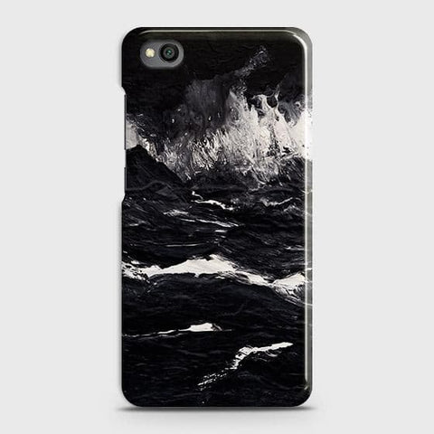 3D Black Ocean Marble Trendy Case For Xiaomi Redmi Go