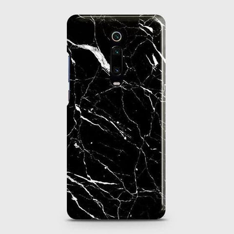 Xiaomi Redmi K20 Cover - Trendy Black Marble Printed Hard Case with Life Time Colors Guarantee