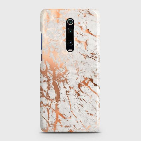 Xiaomi Redmi K20 Cover - In Chic Rose Gold Chrome Style Printed Hard Case with Life Time Colors Guarantee